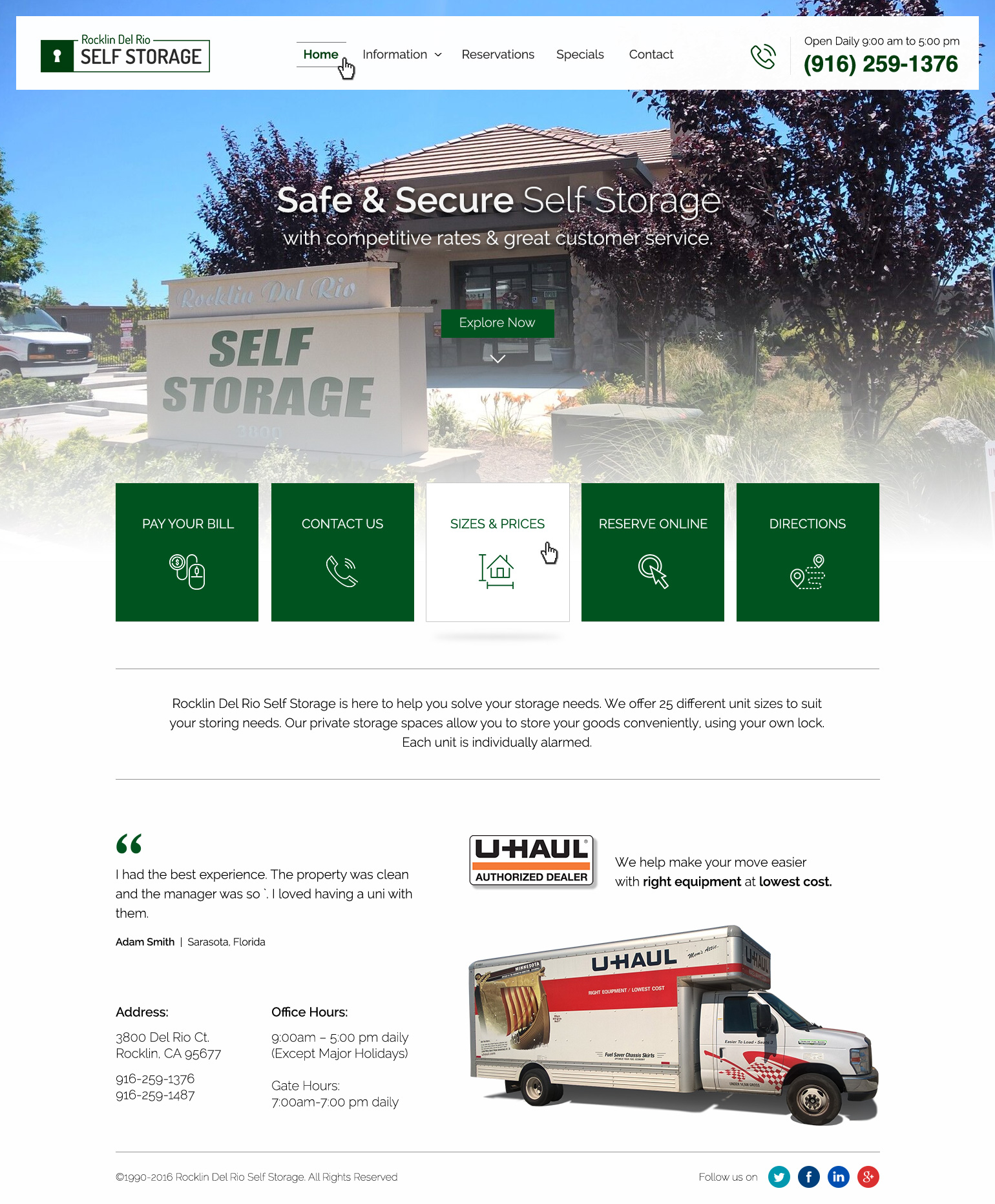 Responsive Web Design for Self Storage Company