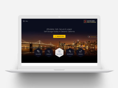 Website Design for Self Storage Center
