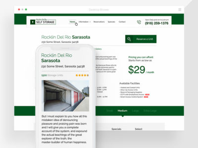 Self Storage Co. Website